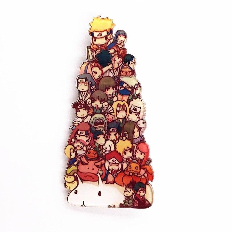 1 шт. хит продаж Наруто кучи аниме значок брошка мультфильм брошь акриловая булавка для украшения на рюкзаке одежда шарф шляпа
