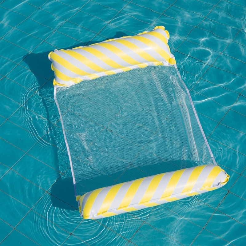 Новый надувной складной плавающий ряд, водный гамак для бассейна, летние воздушные матрасы, кровать, пляжный бассейн, игрушка, водный шезлон...