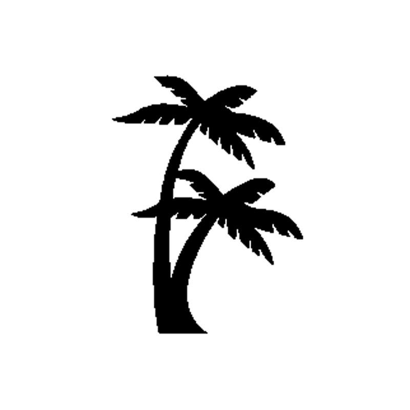 Dawasaru смешно пальмы наклейки для автомобиля солнцезащитные наклейки ноутбук Грузовик Мотоцикл авто окна аксессуары для украшения дома, ПВХ,...