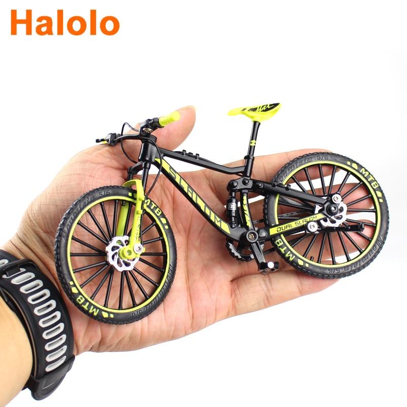 1:10 Mini Diecast Alloy Bicycle Model Metal Racing Finger Mountain bike Pocket portable simulation C