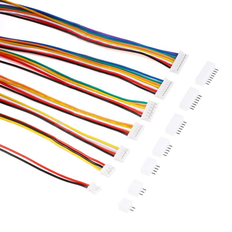 20 шт. = 10 комплектов, разъем Micro Mini JST 2,0 PH, Штекерный разъем 2/3/4/5/6/7/8/3,5-контактный штекер с проводами, приблизительно 9/10 мм, 26AWG, новинка
