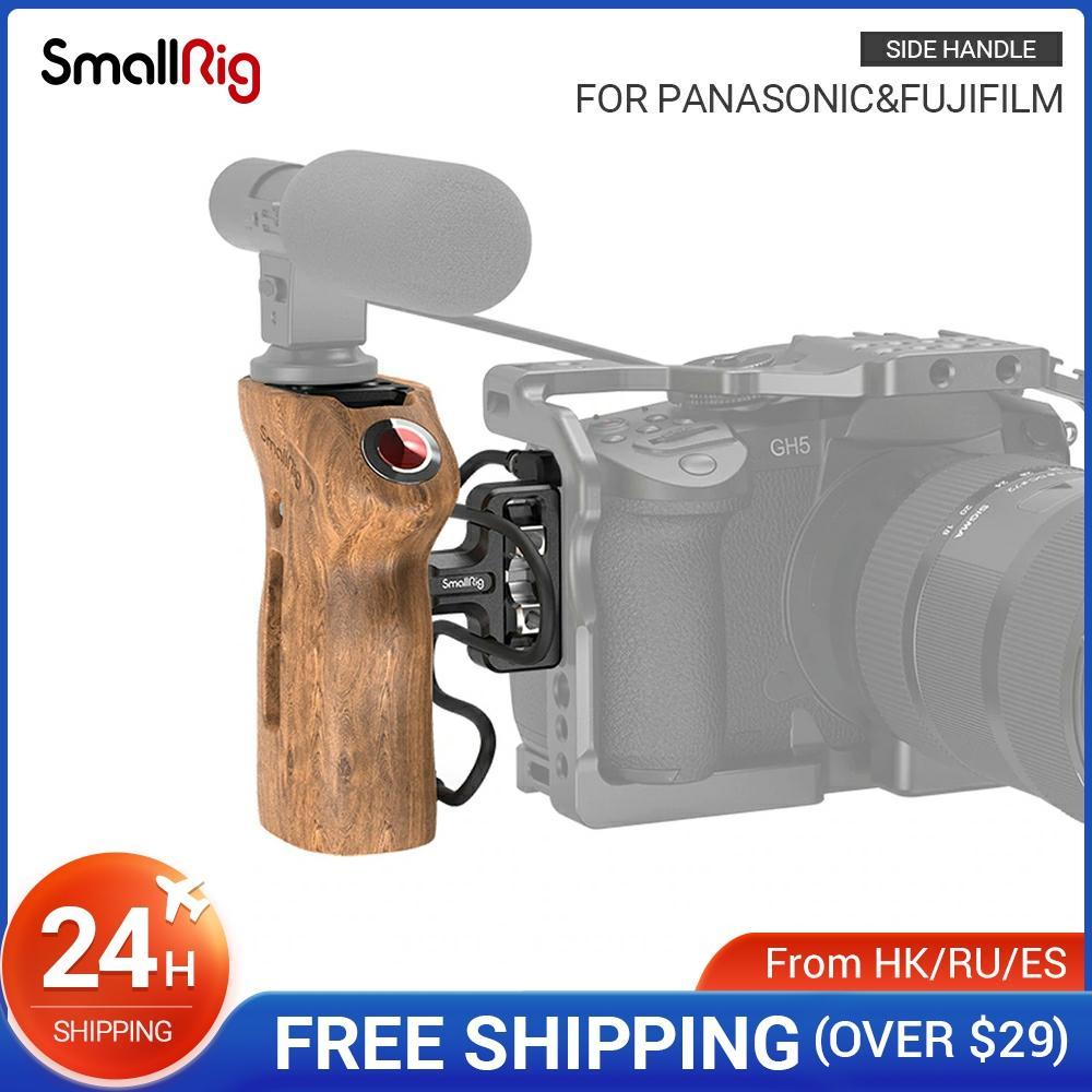هيكل قفصي الشكل للكاميرا مقبض جانبي لكاميرات باناسونيك بدون مرآة تتميز بثقوب خيط 1/4 بوصة مع مشغل عن بعد 2934