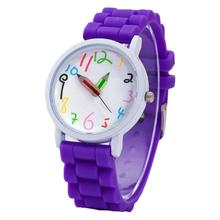 Fashion Children's Watches Kids Arabic Numerals Pencil Analog Display Quartz Wrist Watch Men Women C