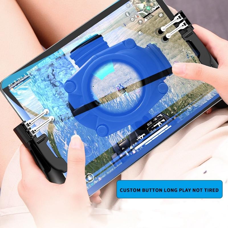 Mando para PUBG, seis dedos Pubg Mobile, agarre de Gamepad L R, botón de disparo, Joystick para Ipad Tablet FPS