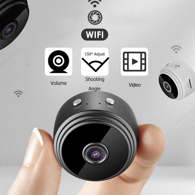 Mini Wifi IP Camera HD 1080P Wireless Indoor Camera  Home Security Two Way Audio Motion Detection Ba