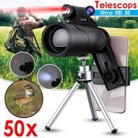 Телескоп 50x60 мобильный телефон, с лазерным фонариком, штативом и зажимом, линзы для объектива мобильного телефона