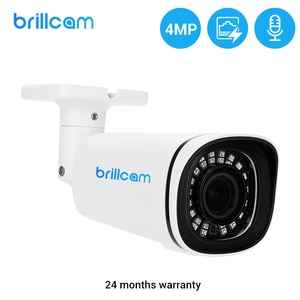 Brillcam 4MP POE IP Camera Outdoor 2.7-13.5mm 5X Zoom Built in Microphone IP67 Waterproof IR Led Security Surveillance Camera