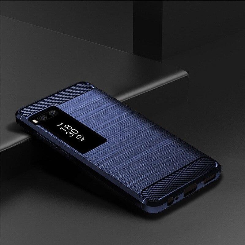 Ultra Thin Carbon Fiber Silicone Cover Case TPU Carbon Fiber Cover for Meizu PRO 7 5.2
