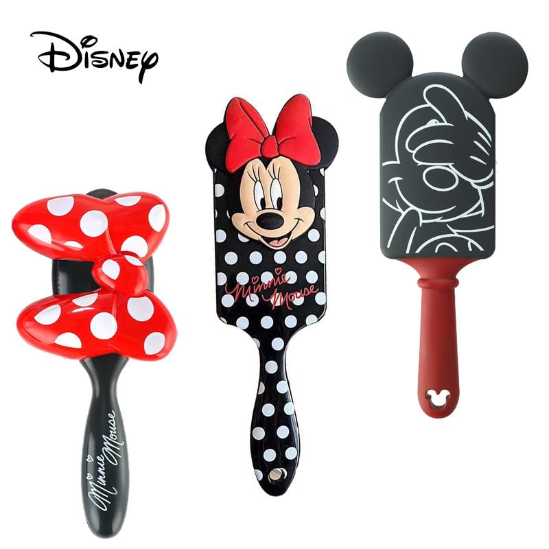 Disney princesa congelado alice 3d pente bebê menina escova de cabelo mickey minnie mouse crianças escova de cabelo dos desenhos animados pente presente natal