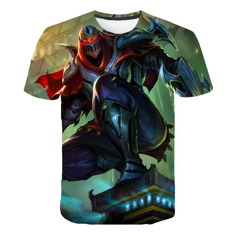league of legends Akali T-shirt men women fasion 3d Printed T Shirt LOL Game character pattern design Tshirt Breathable top tees
