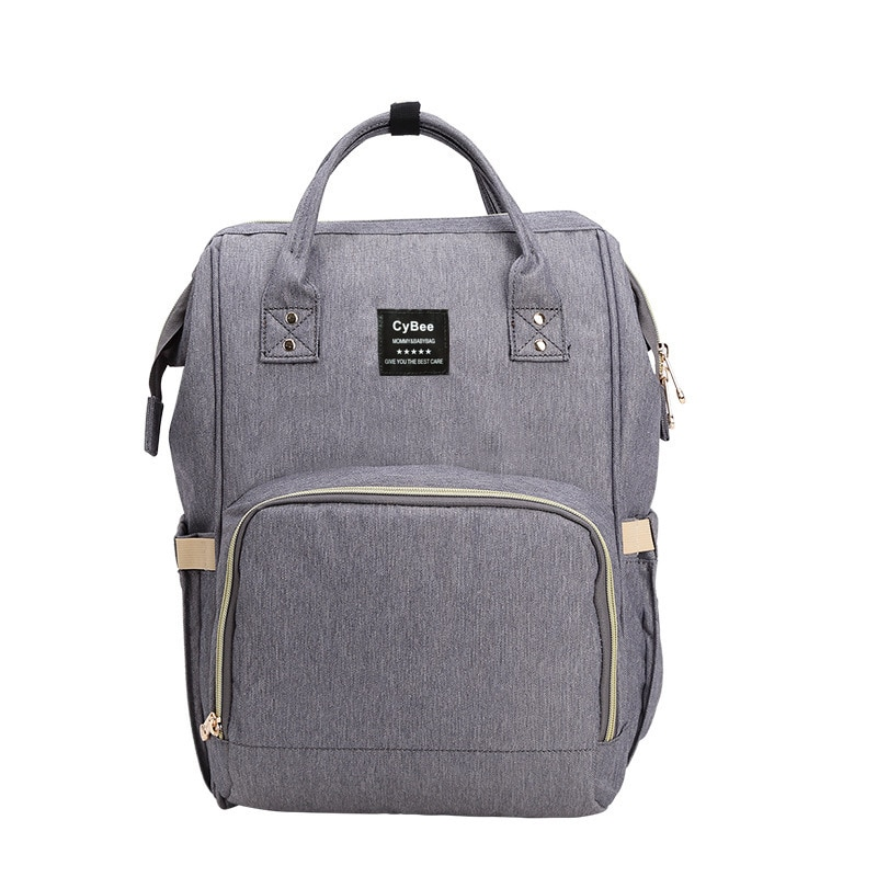 Fashion Maternity Nappy Changing Bag For Mother Gray Large Capacity Diaper Bag with 2 Straps Travel Backpack For Baby