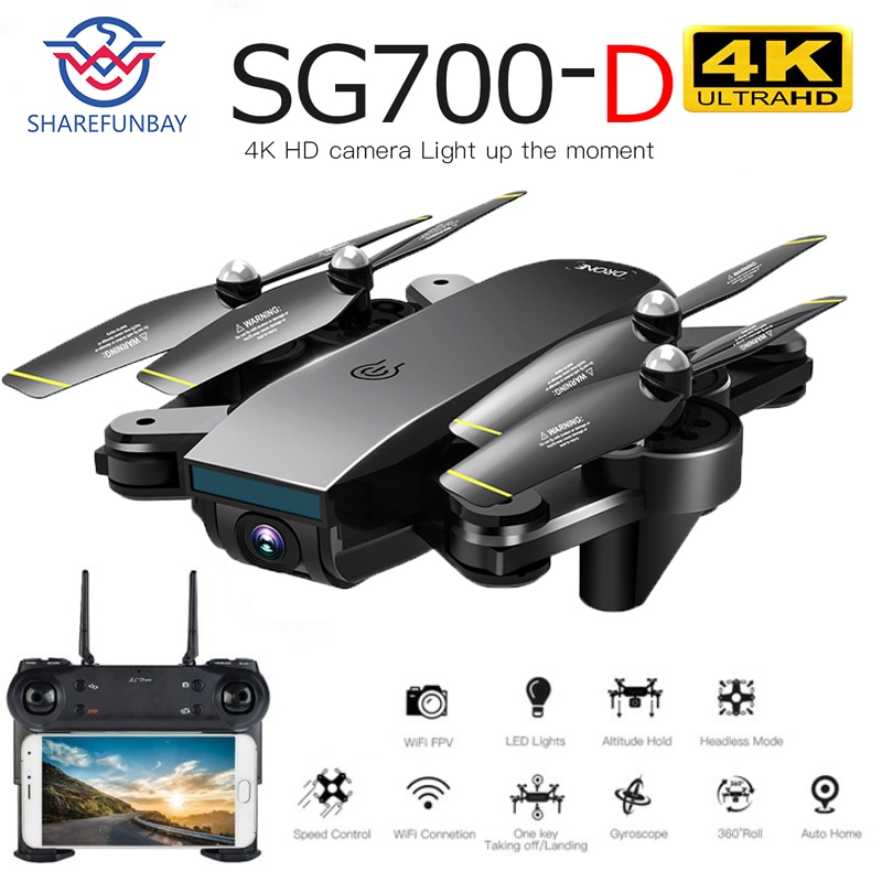 Drone sm700d 4K drone Cámara dual de HD WiFi transmisión fpv flujo óptico altura estable quadcopter Rc helicóptero drone Cámara dron
