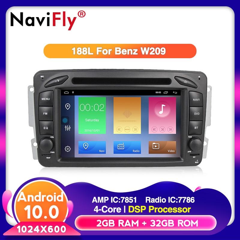 Navifly Android 10 apoyo RDS TPMS DAB Carplayer coche reproductor DVD GPS para Mercedes Benz W209 W203 W463 Viano W639 Vito con 4G