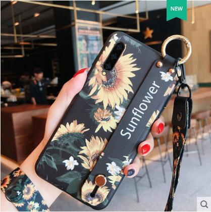 Para samsung galaxy a90 funda de silicona de estilo chino de lujo pintada con correa de muñeca cordón para la caja del teléfono para samsung a90 funda