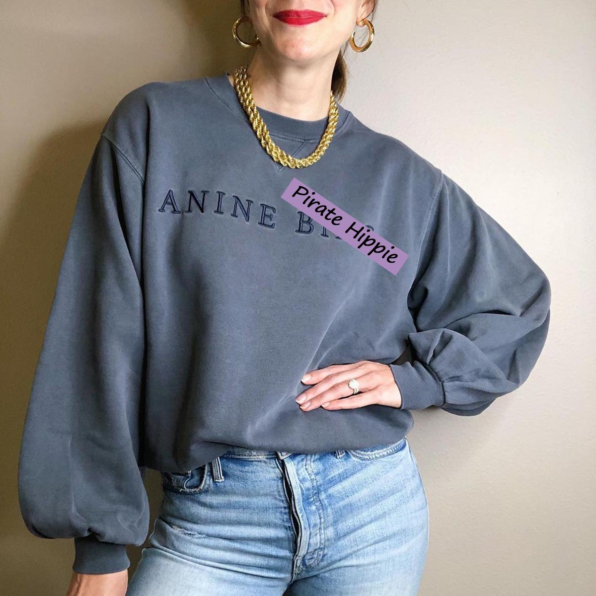 Letter Embroidered Sweatshirt Women Autumn Winter Puff Sleeve O Neck Cotton Pullover Casual Vintage Street Style Hoodie 2020
