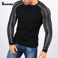 garmenting spring new patchwork sweaters top pullovers streetwear masculinas pull homme ropa knitted sweater man clothing 2021