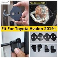 yimaautotrims inner door lock stop rust waterproof protection cover plastic interior mouldings for toyota avalon 2019 2021