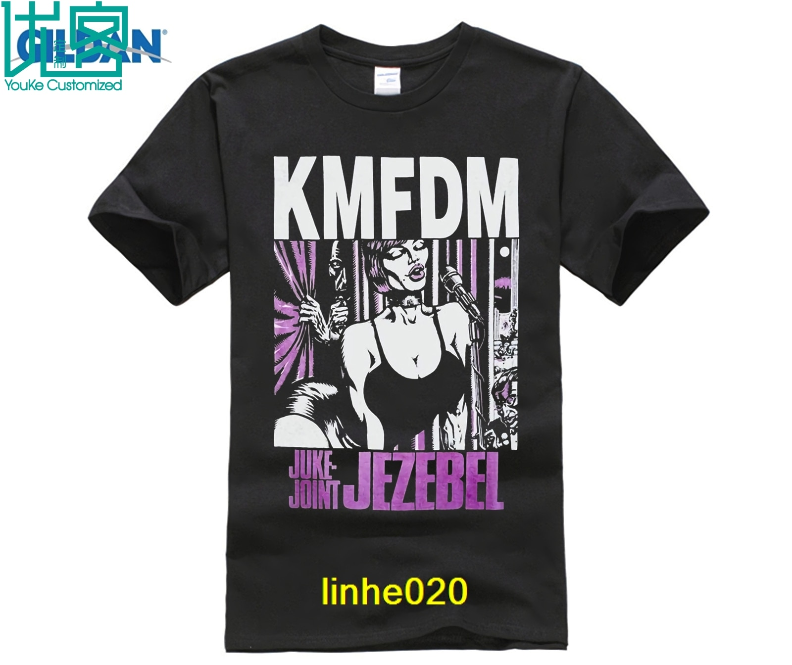 Kmfdm Juke Joint Jezebel Kraut Industrial Pigface Mdmfk nueva camiseta negra nueva marca-Ropa Camisetas Top Tee