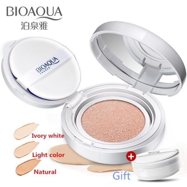 woman 2Pcs BIOAQUA Whitening Make up BB Cushion Cream