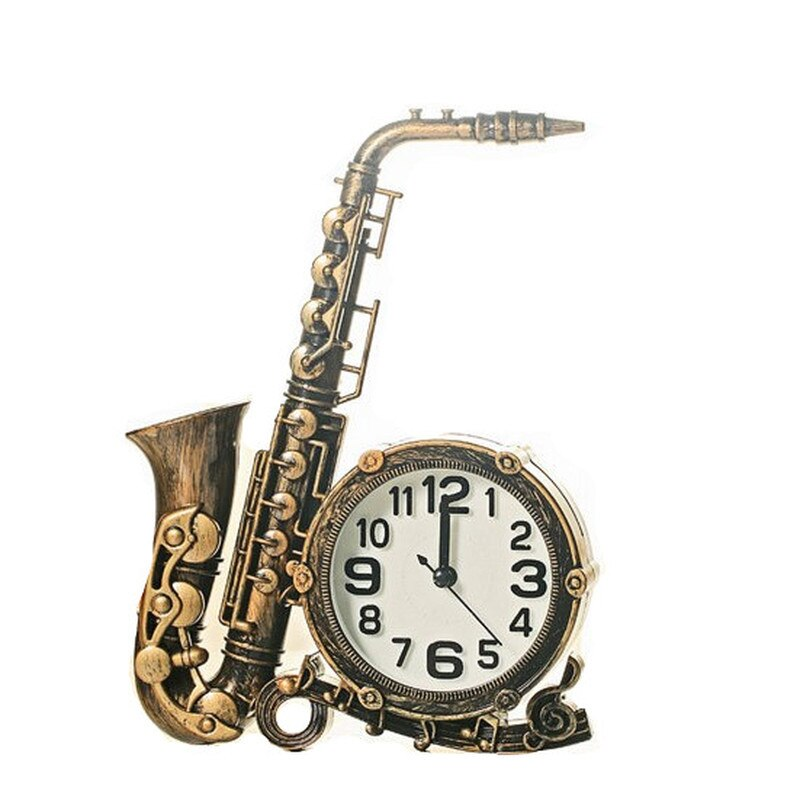 Adornos europeos, reloj de pie con música, instrumento de escritorio para mesita de noche, reloj despertador Vintage para sala de estar Schalke Home CC7NZ