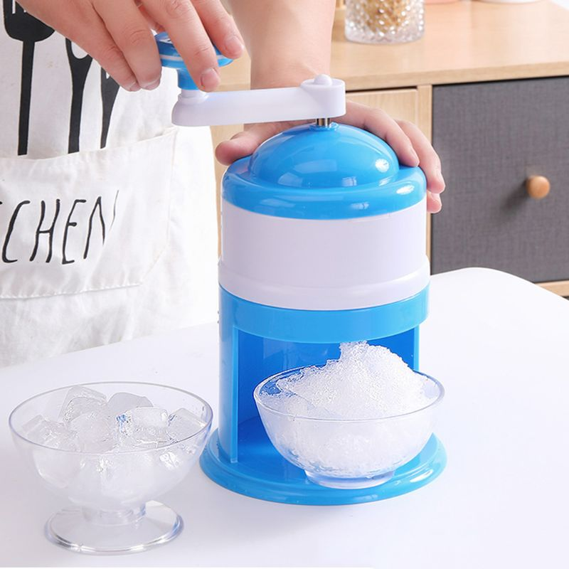 Household Mini Easy Ice Shaver Crusher Handheld Snow Manual Crushing Ice Machine Dropship
