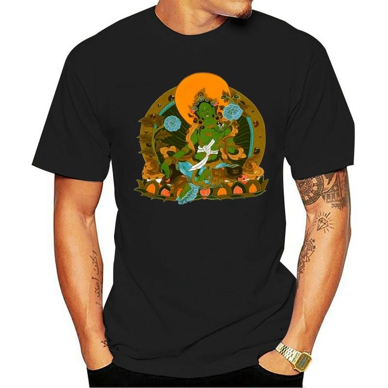 Модные футболки зеленый Спаситель тара йогаер медитация дзен буддийский новый летний Стиль Новое поступление мужские короткие хлопковые с круглым вырезом|Футболки| | АлиЭкспресс