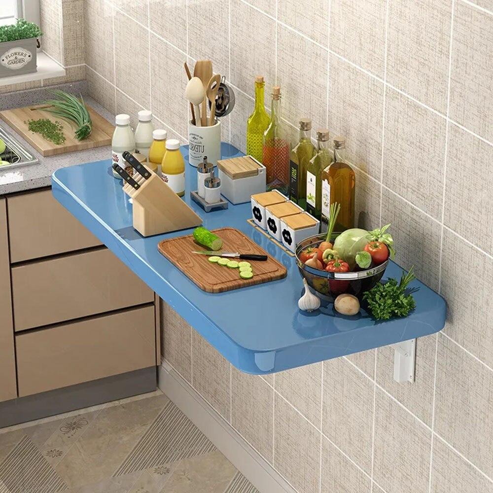الحائط طاولة طعام قابلة للطي المنزلية المطبخ بسيط الأكل جدار متعدد الوظائف مستطيلة مجلس منظم سطح المكتب