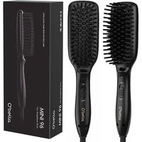 obella hair straightener brush dual voltage 45 second fast heat up 28mm long high density comb teeth anion