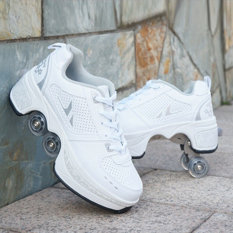 الفتيان مشوهة أحذية الأطفال الكبار خارج بكرة تحكم التزلج على الجليد أربع عجلات أحذية الساخن أحذية رياضية غير رسمية للجنسين الأحذية