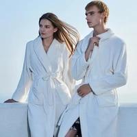 couple nightgown flannel bath robe winter thick warm long robe european and american style comfortable sleepwear homewear pijama