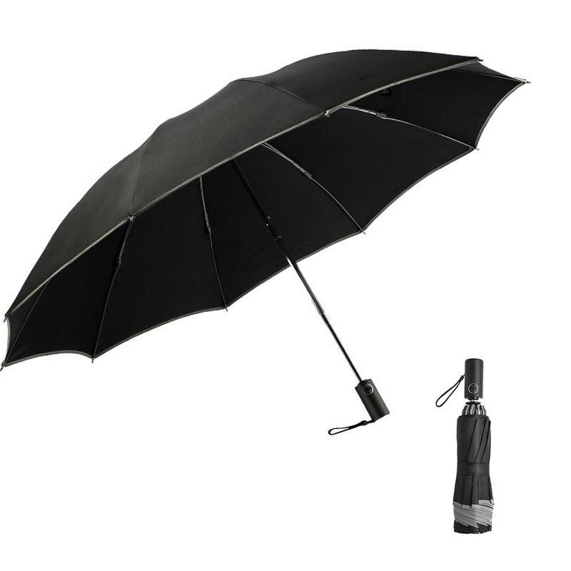 Wind Resistant Automatic Umbrella Men Reverse Car Umbrella 3 Folding Auto Luxury Big Windproof Umbrellas Women Automatic Parasol