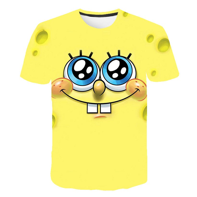 Детские Новые забавные пистары и губки 3D печать прямо с завода футболки для мальчиков и девочек повседневные спортивные футболки для фотог...