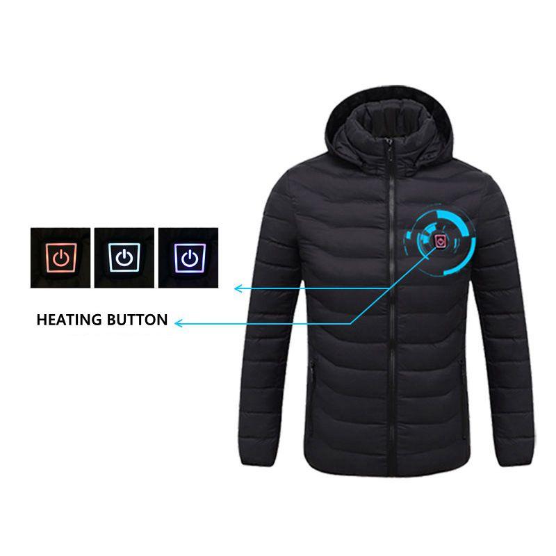 Jachete încălzitoare USB de iarnă pentru bărbați, termostat - Imbracaminte barbati - Fotografie 2
