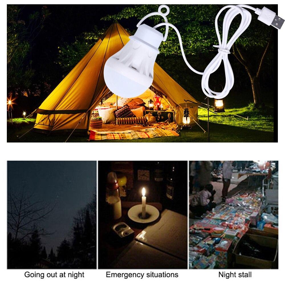 Светодиодный уличный портативный светильник для кемпинга, usb, 5 В, мини-ночник, энергосберегающий, подвесной ночной Светильник льник
