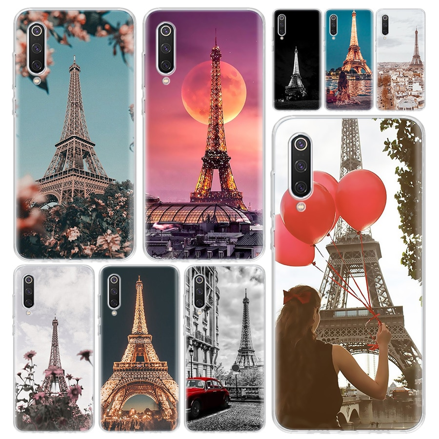 Red Paris London Eiffel Tower Phone Case Cover For Xiaomi Redmi Note 9S 8T 8 8A 7 7A 6 6A 5 10 K20 S2 K30 Pro Mi CC9 8 9 5X 6X L