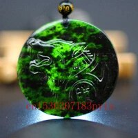 natural black green jade wolf pendant necklace chinese hand carved charm jewelry accessories fashion amulet for men women gifts