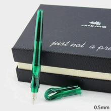 Créatif cygne Clip stylo plume Jinhao calligraphie stylo encre plume 0.38mm plastique Transparent encre stylos école fournitures de bureau