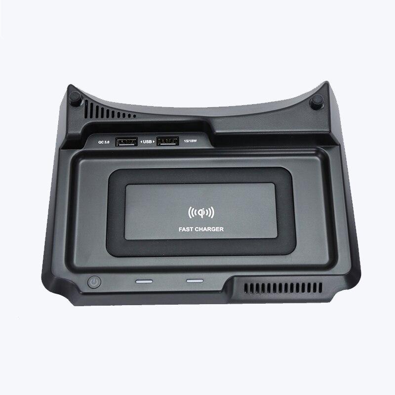 Para honda crv 2017 2018 2019 10 w carro qi carregador sem fio do telefone móvel placa de carregamento rápido sem fio acessórios adaptador 12 v