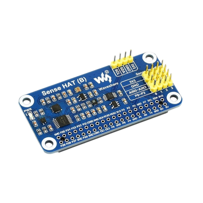 Waveshare-Sense HAT (B) لجهاز Raspberry Pi ، مستشعرات قوية متعددة ، دعم أجهزة استشعار خارجية ، 3.3 فولت ، I2C