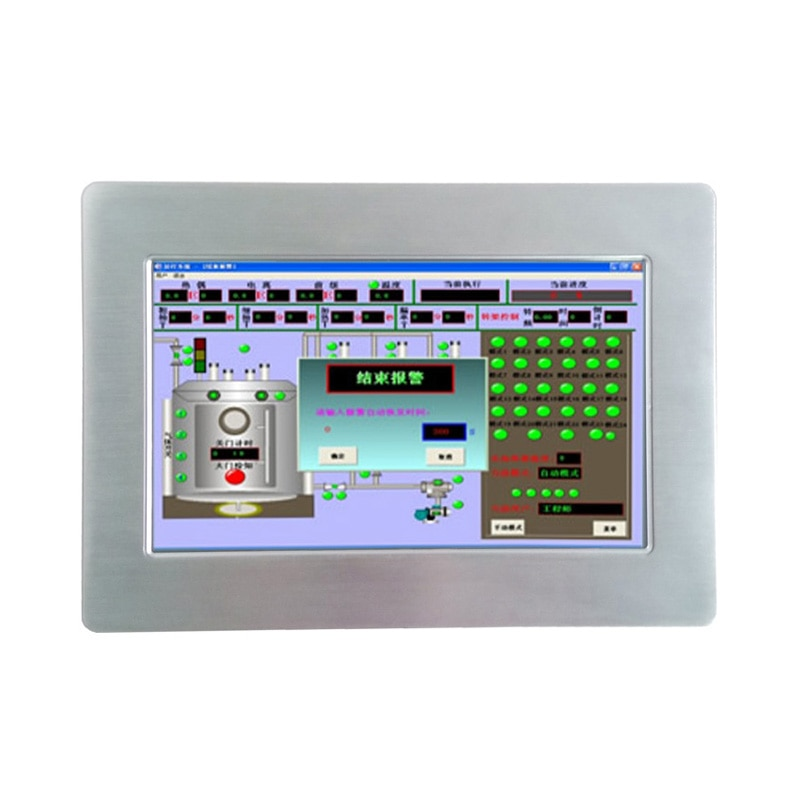 Fanless 10.1 inch touch screen industrial panel pc man-machine interface configuration HMI