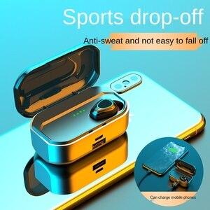 Bluetooth 5.0 TWS Earphone Wireless Bluetooth Headphones 2200mAh Charging Box Headset Stereo Bass with Mic Noise Reduction