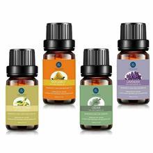 Lagunamoon 4Pcs Ontspanning Natuurlijke Aromatherapie Grade Essentiële Olie Set 10Ml Ylang Lavendel Cederhout Kamille Vanille      -