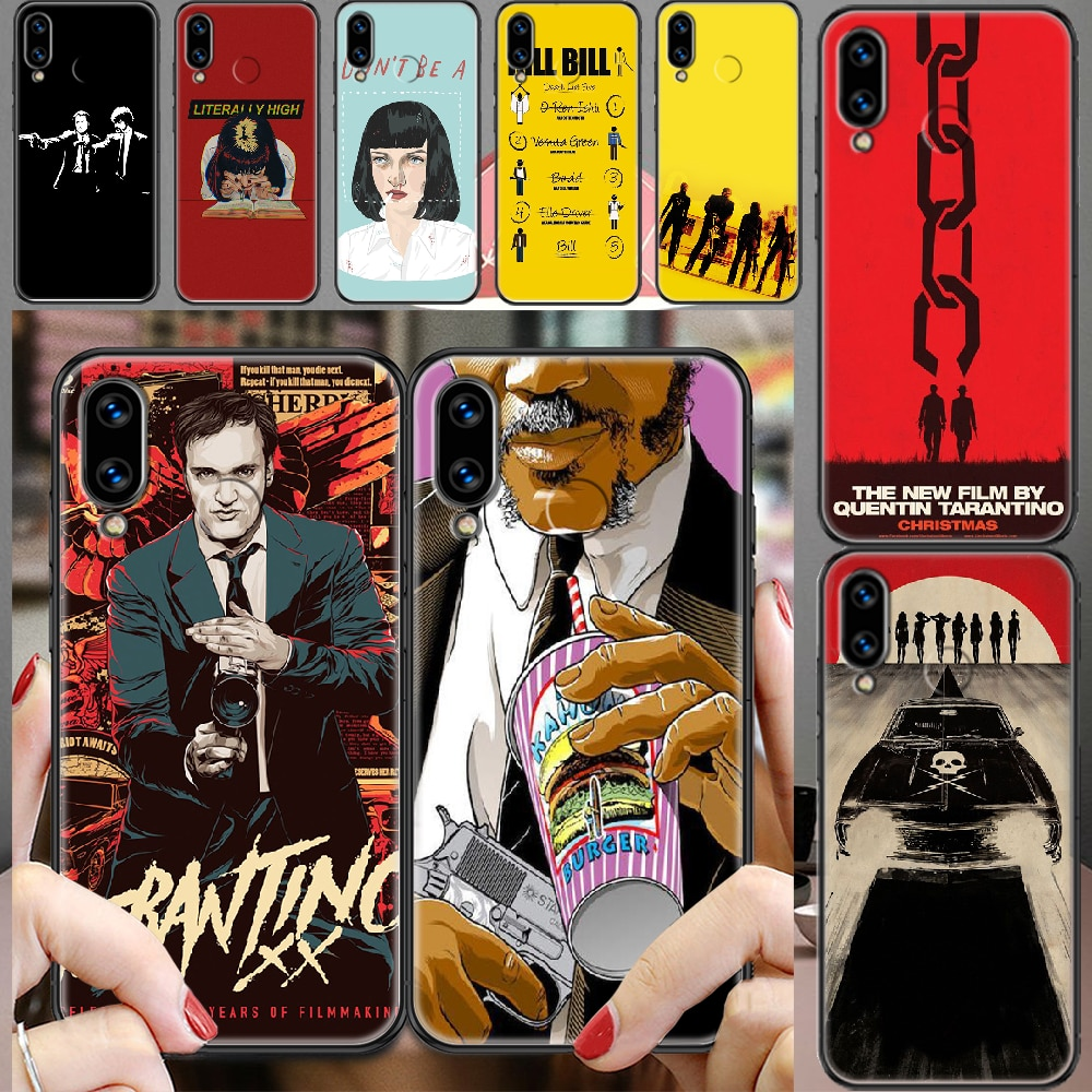 written-directed-quentin-tarantino-phone-case-for-huawei-honor-6-7-8-9-10-10i-20-a-c-x-lite-pro-play-black-luxury-etui-fashion