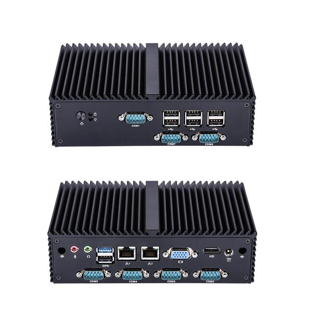 Free shipping Quad Core N2920 7 RS232 industrial mini computer,LPT fanless Mini PC