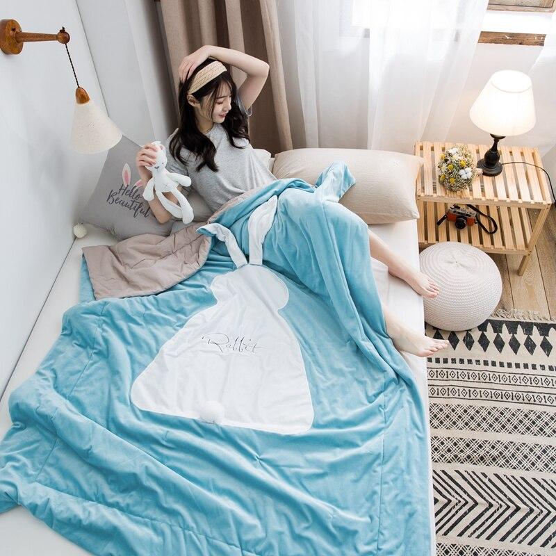 لحاف صيفي دقيق لحاف التوأم كامل الملكة البطانيات الفاخرة نوعية جيدة غطاء السرير الأطفال الكبار حاف لينة المعزون # sw