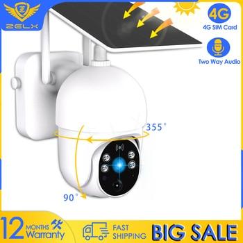 4G SIM Card Video Surveillance Security Camera 1080P Solar IP Camera WiFi Smart home Motion Decetion Two Way Audio Night Vision