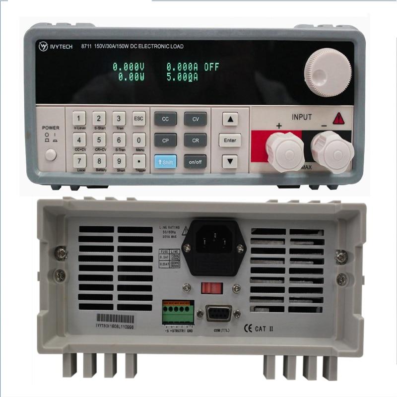 Control Digital muy profesional de carga electrónica de CC de un solo canal de carga electrónica de 150W 150V 30A de instrumentos