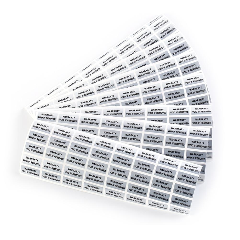 300pcs/lot Printed Security Seals Tamper Evident Warranty Void Labels Sticker Seals