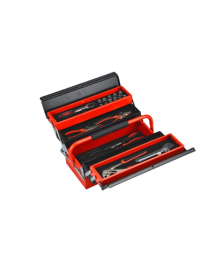 The hot selling red the deep iron tool box with tools for Europe market enlarge