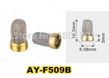 Envío Gratis 500 piezas inyector de combustible Filtro de metal de acero inoxidable Filtro de 10,3*6,08*3mm para kits de reparación de inyectores de combustible (AY-F509B)